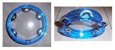 Tamburello azzurro, cembalo, 5 paia di piattini in metallo, diametro cm 15