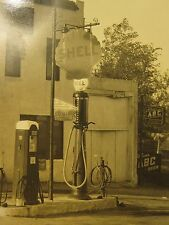 ANTIQUE SHELL GAS SIGN ST LOUIS ABC BEER NEON PUMP CAN COCA COLA PORCELAIN PHOTO