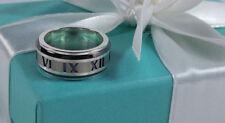 Tiffany & Co. Atlas Midnight Black Titanium Ring Size 6.5 Sterling Silver 925 TI