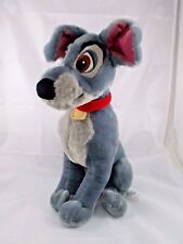 Disney Lady and the Tramp Gray Dog Plush 15""