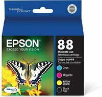 Epson 88 Cyan Magenta Yellow Ink Cartridges Combo Pack Ex 01/2022- MISSING BLACK