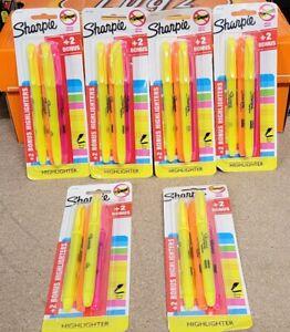 Sharpie Pocket Highlighter Smear Safe Ink Chisel Tip - 3 Colors 4-pack