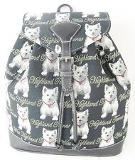 West Highland Terrier Backpack Signare Tapestry - Small Backpack or Rucksack