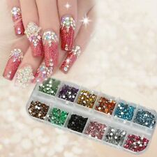 Wholesale 3000pcs Nail Art Rhinestones Glitters Acrylic Tips Decoration Manicure