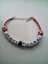 paul pogba man utd coloured football bracelet