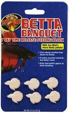 ZOO MED BETTA BANQUET VACATION BLOCK FOOD FEEDER 7 DAY FISH 5 PACK