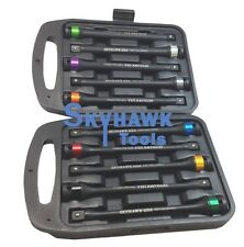 10 pc. 1/2'' Dr. Torque Limiting Extension Bar Set Torque Stick Torque Bar
