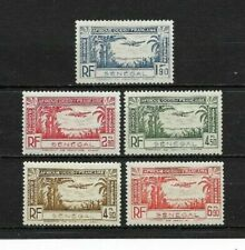 Complete series 5 new stamps ** French colony  SENEGAL  1940  Air Mail    (6985)