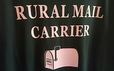 USPS RURAL MAIL CARRIER T SHIRT BLACK/PINK NEW LARGE OTHER SIZES CUSTOM MADE