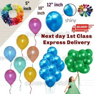 """25 Pieces 5""""/10""""/12"""" Metallic/Pearl Balloons Party decoration baloons Eid Latex"""