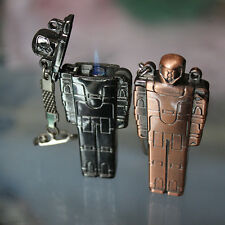 1PC Old style transformers jet torch windproof lighter key chain butane lighter