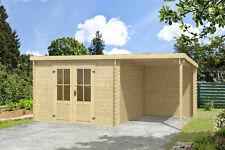 28mm Gartenhaus 500x312 cm Gerätehaus Holzhaus Holz Blockhaus Schuppen Hütte Neu