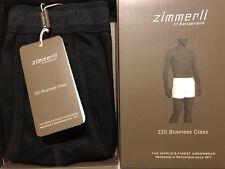 Zimmerli Men's Luxury 220 Business Class Boxer Shorts Trunks Black Size M BNWT