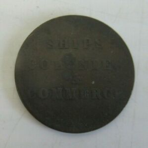 SHIPS, COLONIES & COMMERCE TOKEN LOWER CANADA LATE 1790'S b