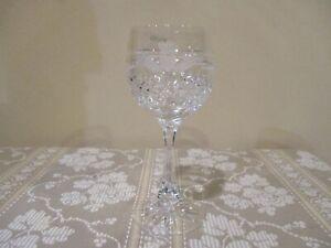 "Vintage Galway Irish Crystal Claddah Wine Glass 6 3/4"", 8 oz.(1pc)"