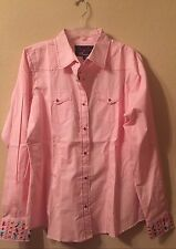 Women Western Rodeo Blouse Shirt XXL Cowgirl Snap Resistol Sherry Cervi Top