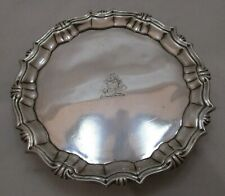 Good antique Georgian Sterling silver salver, 201 grams, Wm Peaston, 1749