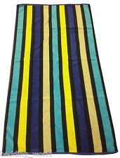 Multi Blue Stripes Jumbo Large Beach Towel Bath Sheet 100 Egyptian Cotton