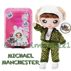 Na Na Na Surprise Series 2 MICHAEL MANCHESTER 2 IN 1 Fashion Doll Pom Purse NEW