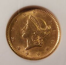 1851 Liberty Head Gold Dollar $1 Type 1 - NGC MS 61 - Nice Coin - Ships Free!