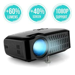 ABOX A2 3000 Lumens Home Theater Projector,1280 * 720P, 67-170 Inch Screen Size