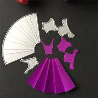 Dress Cutting Dies Stencil Scrapbook Paper Cards Embossing Die Cutter Craft PT