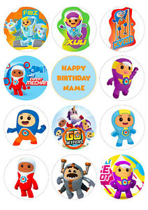 Go Jetters Cupcake Toppers | Icing/Wafer Paper | Edible Print