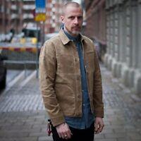 Men's Waxed Canvas Cotton Jacket Military Light Spring Work Jacket Khaki