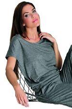 Damen T-Shirt von Sassa ELEGANT Grau MELANGE 59131 Gr. 36-46 Loungewear