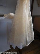 Antique Lace Fabric Ivory Cotton Filet 1800s Prim Cabin VTG Cottage Curtains BTY