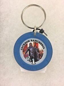 Real $1 Jackson Rancheria Casino Hotel Key Chain FREE SHIPPING