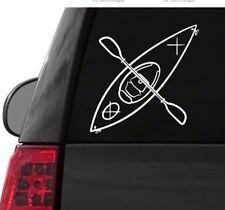 I132 Adventure Kayak w/paddles River Lake Kayaking vinyl decal car sticker