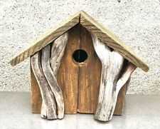 Natural Reclaimed Wood Birdhouse w/Vines handmade, stay home project