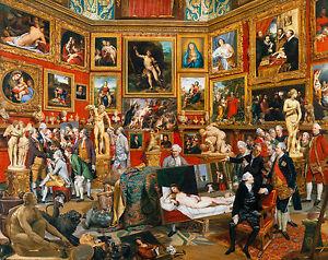 Johan Zoffany - Tribuna of the Uffizi, Museum Art Poster, Canvas Print