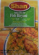 SHAN SPICE MIX FOR FISH BIRYANI RECIPE SEASONING  50GM/1.75 OZ NEW!!!