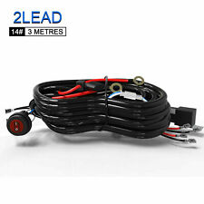 Led Light Bar TWO Lead  Wiring Harness Kit On/Off Rocker Switch w/ 40A Relay US