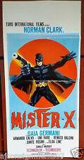 Mister x {Norman Clark} Italian Film Poster Locandina 60s
