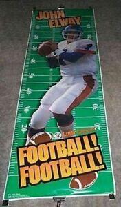 """Denver Broncos John Elway 75"""" x 26"""" Little Caesar's Vintage 1996 Poster"""