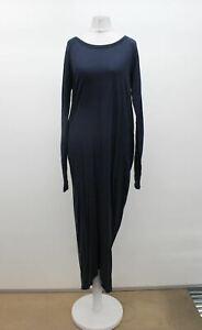 RABENS SALONER Ladies Navy Blue Wool Boat Neck Sanita Midi Dress M BNWT