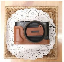 CIESTA Leather Camera Cover Half Case + Cap Skin For Sony RX1/RX1R - Brown