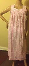 Eileen west nightgown 3X 100% Cotton Lawn  Stunning Pink  Floral Multi