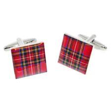 Scotland Scottish Stewart Red Tartan Cufflinks