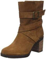 Clarks Ladies Malvet Doris Tan Suede Ankle Boots UK Size 7 /41