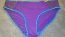 NEW Womens BIKINI HIGH CUT LEG panties plus (size 2X/9) PURPLE AQUA