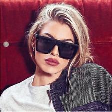 Men's Women's Sunglasses Fashion Designer Square Flat Black Lens Retro New Style
