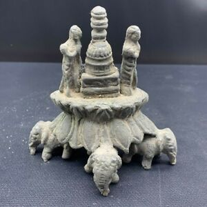 RARE ANCIENT GANDAHARA KINGDOM SILVER STUPA WITH ELEPHANT 242G #A250