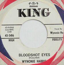 WYNONIE HARRIS Bloodshot Eyes / Good Rockin' Tonight KING 45 jump blues NM HEAR