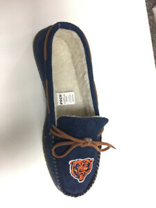Chicago Bears Men's Team Color Moccasin Slippers