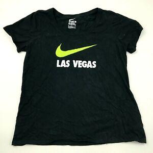 Nike Las Vegas Shirt Womens Size Extra Large Athletic Cut Black Short Sleeve Tee