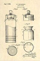 Official Cocktail Shaker US Patent Art Print - Vintage / Antique Bar Art Deco 15
